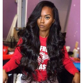 Silk Top 4*4 Full Lace Wigs Indian Human Hair Body Wave [SBFLW3]