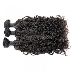 Malaysian virgin unprocessed natural color human hair wefts loose curl 3 pieces a lot Hair Bundles 95g/pc [MVLC03]