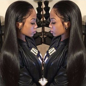 Same Day Shipping: WowEbony Indian Remy Hair Yaki Straight 360 Lace Wigs [360YS04]