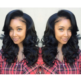Full Lace Wigs Malaysian Virgin Hair Wavy [FW34]
