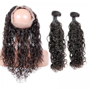 Loose curl 360 band lace frontal