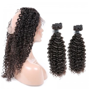 Malaysian Virgin Human Hair 360 Band Lace Frontal 22.5*4*2 Inch + 2 Bundles