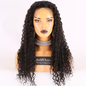 Same Day Shipping Clearance Sale 22inches #1B Color 150% Density Medium cap size Indian Remy Hair Curly Silk Top Full Lace Wig [TH53]