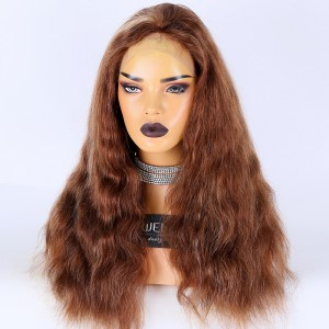 Clearance Sale:WoWEbony Indian Remy Hair 18inches 150% Density Natural Wavy #30/27/4 Highlight Color Small Size HD Lace Full Lace Wigs [C02]