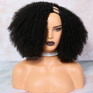 Textured Kinky Coily U Part Wigs for  4b and 4c textures [UPT9]
