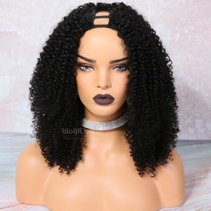 Textured Kinky Curly U Part Wigs for  3b and 3c textures [UPT7]