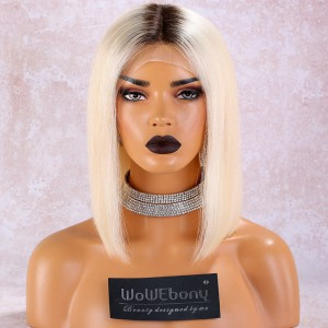 WowEbony TNC/#613 Blonde Full Lace Bob Wigs Wigs Natural Straight Hair [FBOB1]