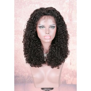 220% Density Double Drawn 4.5 inch Deep Part Lace Front Wigs Indian Remy Hair Jennifer Curl