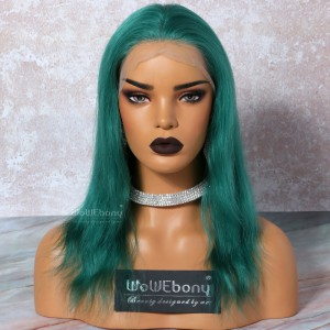 WowEbony Green Hair  Full Lace Wigs Natural Straight, 120% density, Indian Remy Hair [OFLW09]