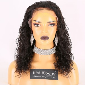 Same Day Shipping Clearance Sale 14 inches Natural Color 150% Density Medium cap size Remy Hair Pic Wacy 13X6 Lace Front Wig [TH58]