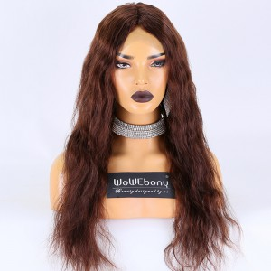 Same Day Shipping Clearance Sale 20 inches #4 Color 130% Density Small Size Remy Hair  Natrual Straight 4X4 Silk Base Full Lace Wig [TH72]