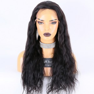 Clearance Sale:WoWEbony Indian Remy Hair 22inches 150% Density Loose Wave Style  Natural Color Medium Size 4*4 Silk Top Lace Frontal Wigs [CLFW06]