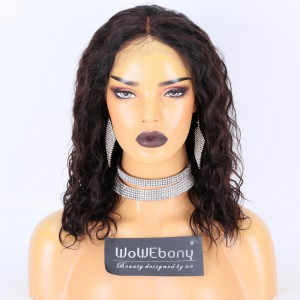 Clearance Sale:WoWEbony Indian Remy Hair 14inches 150% Density Deep Body Wave Style Natural Color Medium Size Original 360 Lace Wigs [CLFW21]
