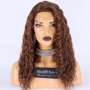 Stocked WowEbony Human Hair 20inches 150% Density 18mm Curly Curve T Part Glueless Lace Wigs [Curve12]