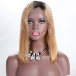 Clearance Lace Front Wig, Picture Color, Indian Remy Human Hair, 150% Density, Medium Size, Yaki Straight