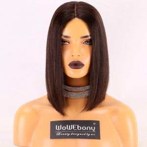 Same Day Shipping Stocked WowEbony Human Hair  3.5 x4 Silk Top Glueless Lace Wigs [Shirly]