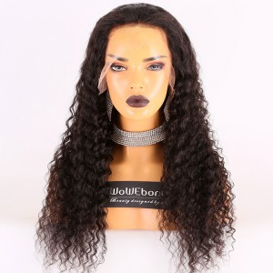 Same Day Shipping Clearance Sale 22 inches Natural Color 180% Density Medium cap size Remy Hair Curly 13X6 Lace Front Wig [TH56]