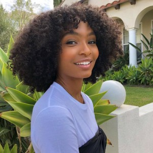 New Designed Indian Remy Hair Afro Curl Glueless Silk Part Lace Wig Left Part