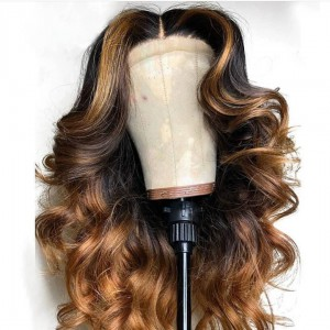 WowEbony Indian Remy Hair Celebrity Color Style Picture Wave Lace Wigs [360Rossie]