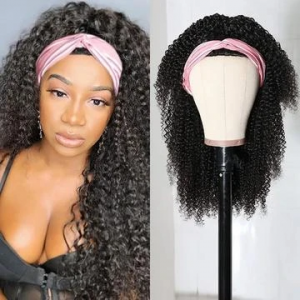 Ship in 3 Days WoWEbony 3b and 3c Textures Curly Head Band Wigs With Free Head Band [HBW05]
