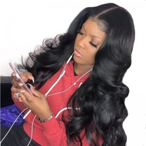WowEbony 4.5 inch Deep Part High Density Big Body Wave Lace Front Wigs 250% Density, Indian Remy Hair [IR4.5LFBBW2]