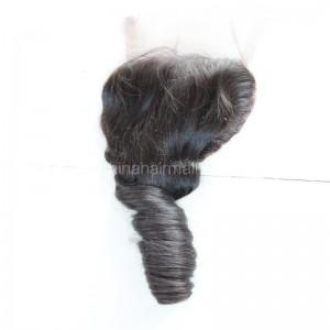Brazilian Virgin Human Hair 4*4 Popular Lace Closure Romance Curly Natural Hair Line and Baby Hair [BVRCTC]