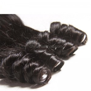 Malaysian Virgin Human Hair 4*4 Popular Lace Closure Bouncy Curly Natural Hair Line and Baby Hair [MVBCTC]