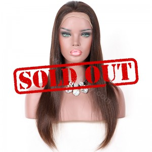 Clearance Sale 18 Inches Glueless Full Lace Wig Brazilian Virgin Hair Natural Color 130% Density Medium Cap Size [CFLW52]