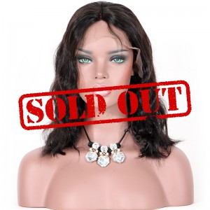 Clearance Sale 10 Inches Glueless 4*4 Silk Top Lace Front Wig Indian Remy Hair #1B Color 130% Density Medium Cap Size