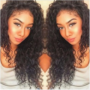 Glueless Full Lace Wigs Malaysian Virgin Hair Loose Curly