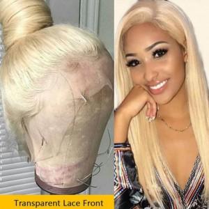 Same Day Shipping WowEbony Virgin Hair Natural Straight Blonde #613 Color Glueless Full Lace Wigs [Miya]