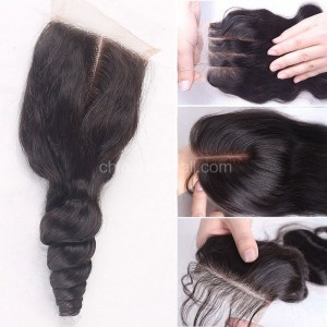 Brazilian Virgin Human Hair 4*4 Popular Lace Closure Eurasian Natural Hair Line and Baby Hair [BVECTC]