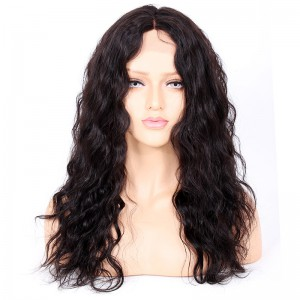 Glueless Full Lace Wigs Indian Remy Hair Middle Part Loose Wave [FLW11]