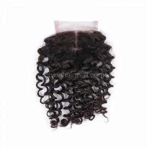 Brazilian Virgin Human Hair 4*4 Popular Lace Closure Loose Curl Natural Hair Line and Baby Hair [BVLCTC]