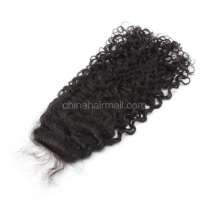 Brazilian Virgin Human Hair 4*4 Popular Silk Base Lace Closure Curly Natural Hair Line and Baby Hair [BVCSTC]
