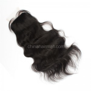 Brazilian Virgin Human Hair 4*4 Popular Silk Base Lace Closure Natural Wave Natural Hair Line and Baby Hair [BVNWSTC]