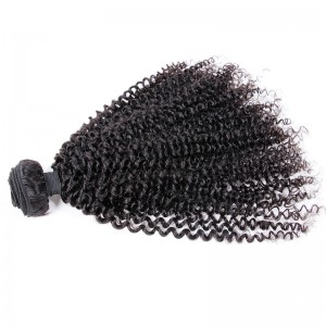 Peruvian virgin human hair wefts Afro Kinky Curly 1 pc a lot unprocessed natural color 95g/pc [PVAKC01]