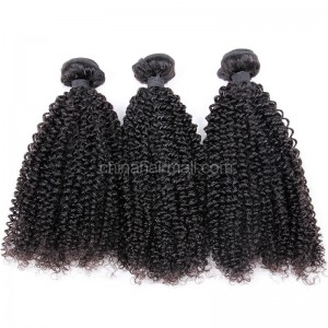 Malaysian virgin unprocessed natural color human hair wefts Afro Kinky Curly 3 pieces a lot 95g/pc [MVAKC03]