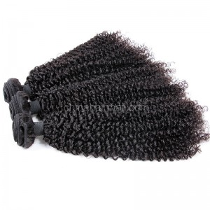 Brazilian virgin unprocessed human hair wefts Afro Kinky Curly 3 pieces a lot 95g/pc [BVAKC03]