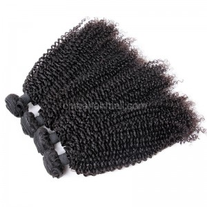 Brazilian virgin unprocessed human hair wefts Afro Kinky Curly 4 pieces a lot  95g/pc  [BVAKC04]