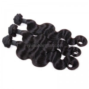 Brazilian virgin unprocessed human hair wefts Body Wave 3 pieces a lot  Hair Bundles 95g/pc [BVBW03]