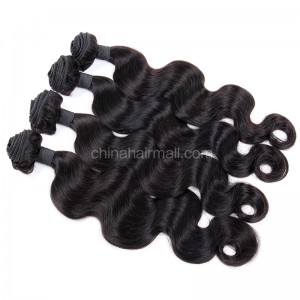 Malaysian virgin unprocessed natural color human hair wefts Body Wave 4 pieces a lot  95g/pc  [MVBW04]