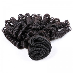Malaysian virgin human hair wefts Bouncy Curly 1 pc a lot unprocessed natural color 95g/pc [MVBC01]
