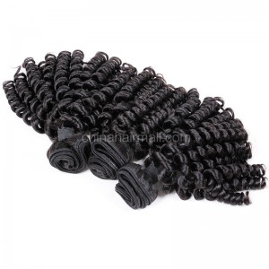 Brazilian virgin unprocessed human hair wefts Bouncy Curly 3 pieces a lot 95g/pc [BVBC03]