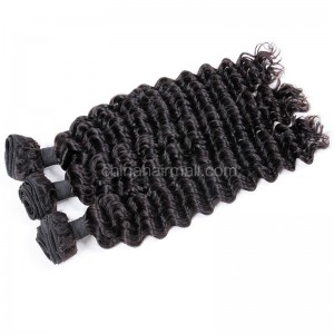 Brazilian virgin unprocessed human hair wefts Deep Wave 3 pieces a lot 95g/pc [BVDW03]