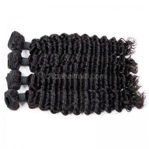 Brazilian virgin unprocessed human hair wefts Deep Wave 4 pieces a lot  95g/pc  [BVDW04]