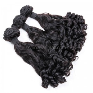 Malaysian virgin unprocessed natural color human hair wefts Eurasian Curly 3 pieces a lot 95g/pc [MVEC03]