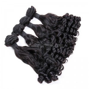 Brazilian virgin unprocessed human hair wefts Eurasian Curly 4 pieces a lot  95g/pc  [BVEC04]