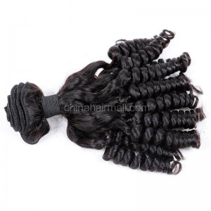 Malaysian virgin unprocessed natural color human hair wefts Funmi Curly 1 pc a lot 95g/pc [MVFC01]