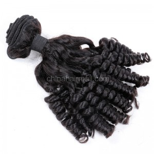 Brazilian virgin unprocessed human hair wefts Funmi Curly 1 pc a lot  95g/pc [BVFC01]